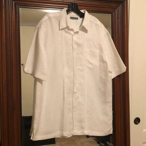 Men's white cubavera shirt